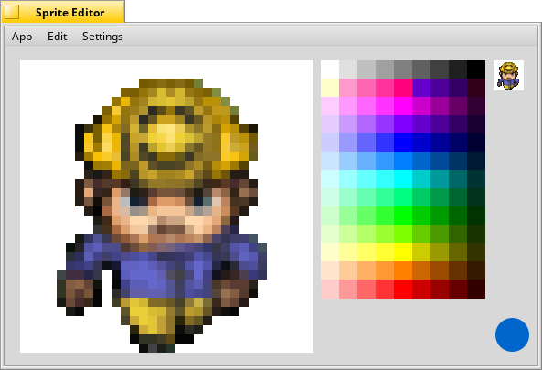 Little editor to create sprites for games.