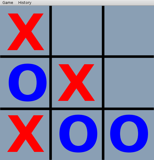 classic tic-tac-toe game (OXO)