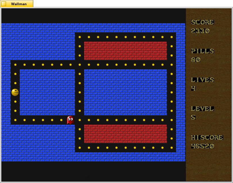 A pac man clone written in EGSL